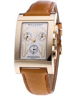 Uhren von Uhrenhandel.de - Uhren aus Gold - Bulgari Rettangolo Herren Chronograph RTC49GLD 18 Kt. Gold UVP 9.100.-€