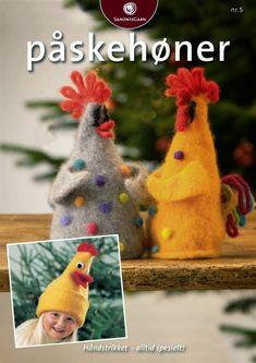 Tante er fortsatt GAL!!: Strikket/Tovet Høner til Påske Chicken Crafts, Elephant Pattern, Tatting Patterns, All Craft, Homemade Christmas, Felt Crafts, Needle Felting, Parrot, Rooster