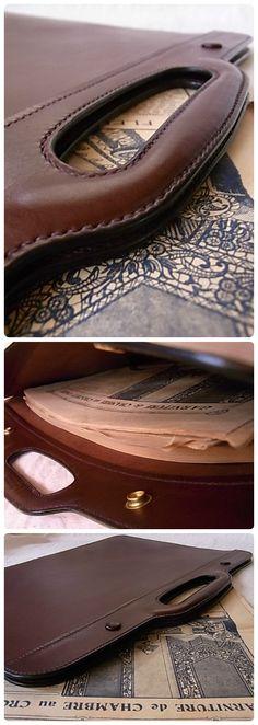 leather hand made hand bag