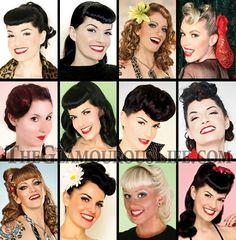 いろいろなロカビリースタイルヘア : レトロでロカビリー!50年代風 ヘアスタイル【髪型】 - NAVER まとめ