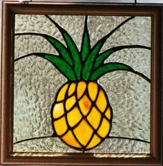Pineapple Stained Glass Window. From windflower