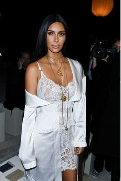 Kim Kardashian at the Givenchy Fashion Show in Paris, France October 2, 2016