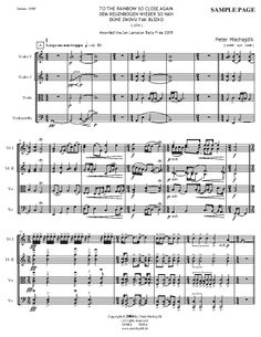 TO THE RAINBOW SO CLOSE AGAIN for string quartet String Quartet, Violin, Sheet Music, Composition, Rainbow, Rain Bow, Musical Composition, Writing, Rainbows