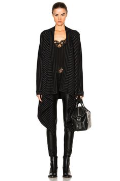 GIVENCHY Pinstripe Sweater Coat. #givenchy #cloth #