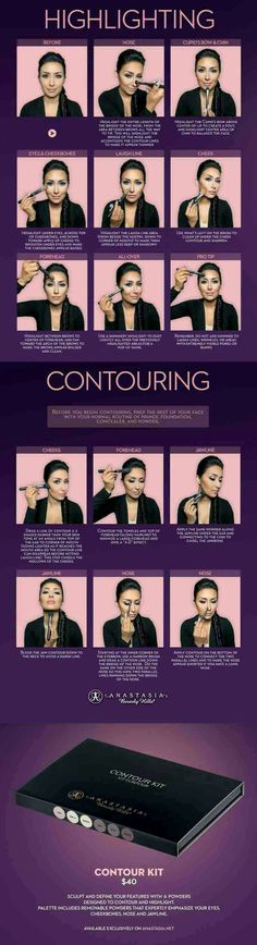 Highlighting and contouring guide #Beauty #Trusper #Tip