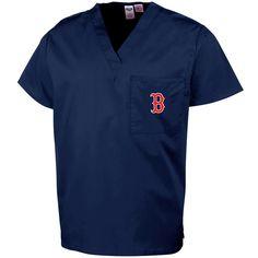 Boston Red Sox Unisex Scrub Top - Navy Blue - $27.19