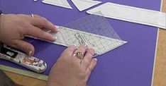 American Patchwork And Quilting, Triangle Square, Magic S, Triangles, Sewing Tutorials, Quilts, Patterns, How To Make, Fabric