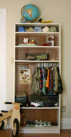 Bookshelf into closet