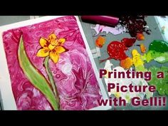 how to make a realistic print of a daffodil with a gelli plate. So many possibilities with this printing technique and the gelli plate