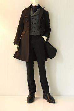 Séverin Black Frock Coat set for Dollshe 28M by SartoriaJ on Etsy