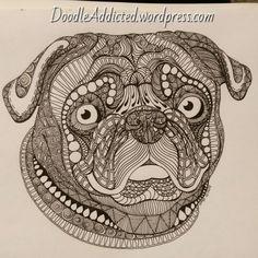 Pug doodle by Heidi Denney