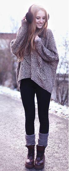 Oversized Chunky Knit.