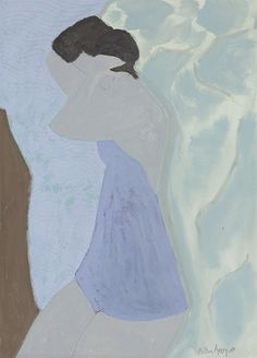 Milton Avery (American, 1885-1965), Bather, 1952. Gouache and watercolor on paper, 30½ x 22¼ in.