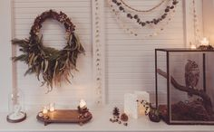 A rustic & elegante Christmas decoration. Eine rustikale und elegante Weihnachtsdekoration. Alle Fotos plus Mood Board findet Ihr auf Waldfrieden State.