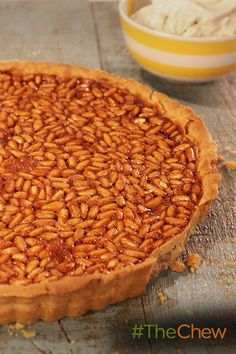 This sweet Honey and Pine Nut Tart treat is perfect for any time of day!