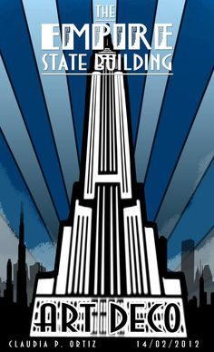 Empire State Poster - Art Deco by xAyaletx. Poster Art, Kunst Poster, Art Deco Posters, Poster Prints, Art Prints, Empire State Building, Vintage Prints, Vintage Posters, Vintage Art