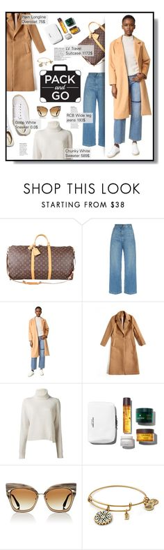 """""""Pack and Go"""" by nadia-gadelmawla ❤ liked on Polyvore featuring Louis Vuitton, Rachel Comey, dRA, Proenza Schouler, Soludos, Dita, widelegjeans, LVluggagesuitcase, goopwhitesneaker and longlineovercoat"""