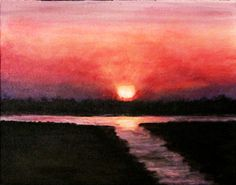 Savannah Sunset by Joseph Ebberwein Acrylic ~  x