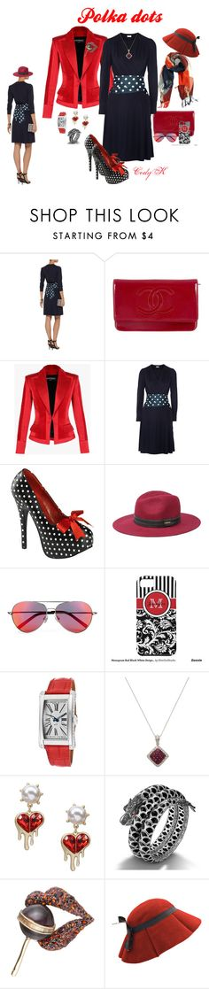"""""""Red  White  Blue"""" by cody-k ❤ liked on Polyvore featuring Chanel, Balmain, Issa, Pinup Couture, Bebe, Matthew Williamson, Bedat & Co., Sethi Couture, John Hardy and Alexis Bittar"""