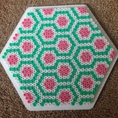 Coaster hama beads by Georgia Brown