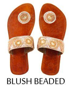 Blush Beaded Paduka Sandals  $24.99