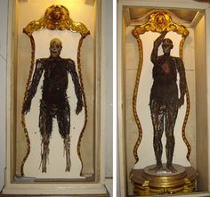 """Discover The Anatomical Machines of Cappella Sansevero in Naples, Italy: These """"anatomical machines"""" are only one of the many strange items in this Italian crypt. Naples, Mummy Museum, Third Street, Adam And Eve, Chapelle, Ancient Rome, Memento Mori, Sangria, Illustration"""