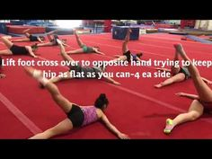 """Set to """"Bohemian Rhapsody"""" by Queen this is a great stretch for the hip and spine. I learned these stretches from a presentation by Brian Pickard at USA gymn. All About Gymnastics, Tumbling Gymnastics, Gymnastics Stretches, Gymnastics Workout, Usa Gym, Acro, Drills, Conditioning, Stretching"""