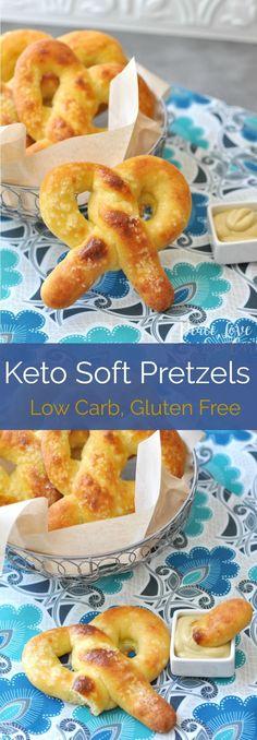 Keto Soft Pretzels   Peace Love and Low Carb via @PeaceLoveLoCarb