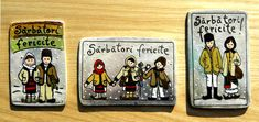 Magneti suvenir- motive traditionale   festART Colour Board, Pattern Design, Lunch Box, Baseball Cards, Bento Box