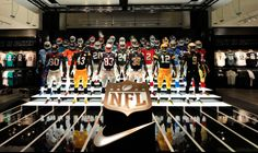 Nike | NFL Takeover At Nike Town London, display by Millington Associates | via Auriane White