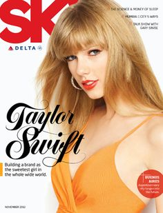 Taylor Swift photographed for Sky by Jeff Lipsky for Stockland Martel. Lettering by Martha Cerdà Alimbau, November 2012
