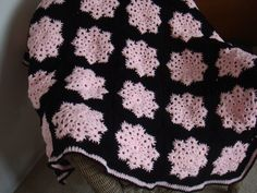 Last Snowflake Granny Square afghan for this year.