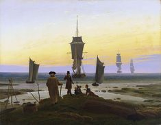 Caspar David Friedrich(German,1774–1840) / The Stages of Life(Die Lebensstufen), 1835, Oil on canvas, Museum der bildenden Künste, Leipzig