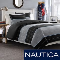 Nautica Danbury Stripe Cotton 3-piece Comforter Set