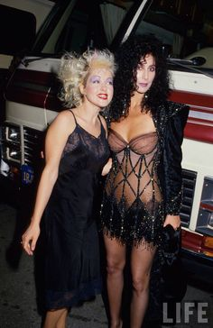 Cyndi Lauper With Cher 1990s Grammy's. (Also worn to 1998 International Television Award Gala in Milan?)