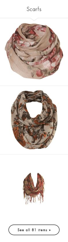"""""""Scarfs"""" by willchonok ❤ liked on Polyvore featuring accessories, scarves, women, snood scarves, cream shawl, cotton scarves, cotton shawl, woven scarves, bufandas and pañuelos"""