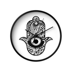 Rich in history and artistry, the Stylized Hamsa Wall Clock in Black is a gorgeous addition to your wall. Not just a way to tell the time, this clock features a modern interpretation of the ancient Ham...  Find the Stylized Hamsa Wall Clock in Black, as seen in the The Glamorous Globetrotter Collection at http://dotandbo.com/collections/the-glamorous-globetrotter?utm_source=pinterest&utm_medium=organic&db_sku=107101