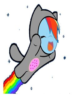 """My Little Pony Friendship is Magic Rainbow Dash Nyan Cat"" Stickers by cyberwolf247 