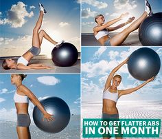 Stability-Ball Workout for a Sexier Stomach: Self.com : Want to get a Tinseltown tummy at home? All you need are hand weights and a stability ball. For blockbuster results, do this workout three times a week for a month. Coming soon: your own close-up-worthy abs. #SELFmagazine