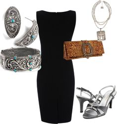 """""""Black Tie Affair Meets Cowgirl Coutor"""" (different shoes tho) Cowboy Chic, Cowgirl Style, Western Style, Fashion Beauty, Girl Fashion, Fashion Outfits, Country Girl Style, My Style, T Length Dress"""