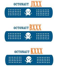 octonaut party - favor bag label