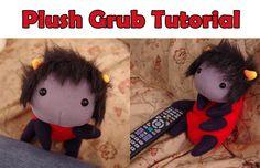 homestuck crafts Karkat plush grub tutorial dolorosa signless grubkat
