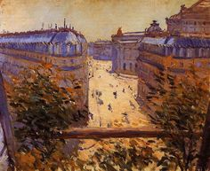 Rue Halevy, Balcony View, 1878 Gustave Caillebotte