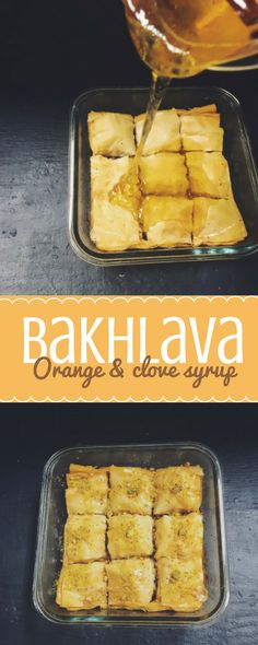 This indo-iranian bakhlava recipe features a floral orange and clove syrup over flaky pastry and a mixture of almonds and walnuts brought together with ghee. Yum!
