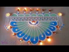 New rangoli Designs with colours For doors - Easy Design - Rangoli By Maya! - YouTube