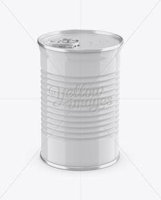 Tin Can w/ Metal Rim Mockup (High-Angle Shot)