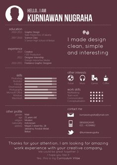 Simple Resume | MORE on http://www.pinterest.com/sisisosa/curr%C3%ADculum-vitae/