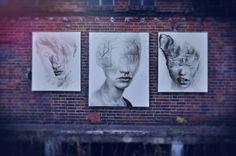 "paintings ""Less dead"" ""I,m afraid"", ""Fragile"""