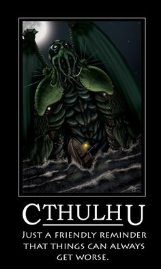 It's all fun and games until Lord Cthulhu rains madness and despair over the world. - Cthulhu by *almcdermid on deviantART Necronomicon Lovecraft, Lovecraft Cthulhu, Hp Lovecraft, Cthulhu Art, Call Of Cthulhu, Cthulhu Tattoo, La Sombra Sobre Innsmouth, Dark Fantasy Art, Skinny