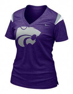 Kansas State Wildcats Women's Nike New Orchid Football Replica Tee